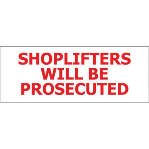 "T3 Shoplifters Will Be Prosecuted Decal, 8"" x 3"" (6 pk.)"