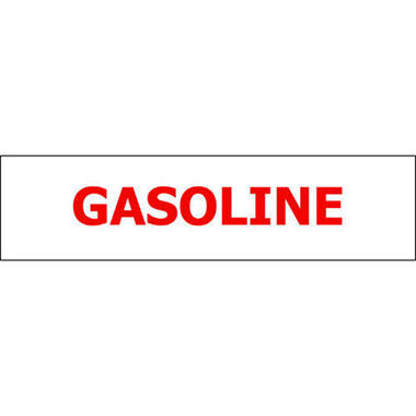T3 Gasoline Pump ID Decal, Red (6 Pk)