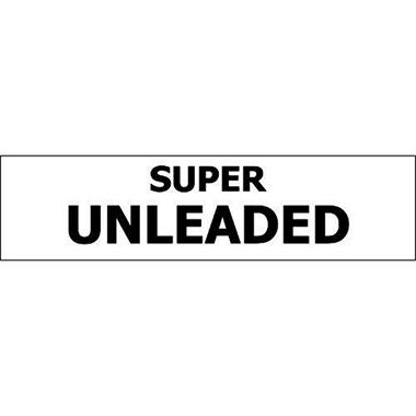 Pump ID Decal - Super Unleaded - Black - 6 Pack