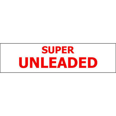 T3 Super Unleaded Pump ID Decal, Red (6 Pk)
