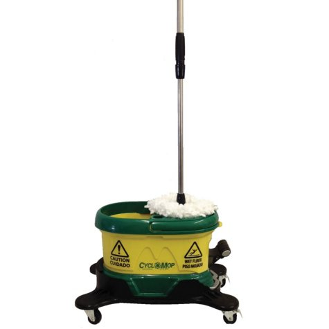 Bissell Commercial CycloMop CM500D-GRN Spin Mop w/ Dolly