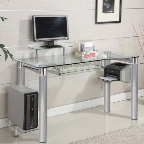 Innovex Saturn Desk, Clear