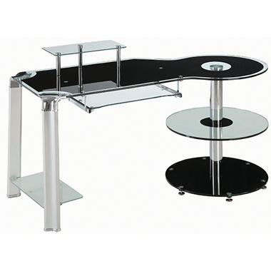 Innovex Fusion Black Glass Desk