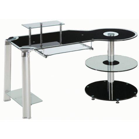Innovex Fusion Black Glass Desk
