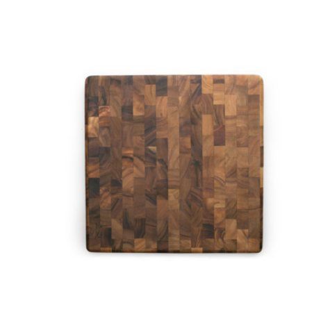 Acacia Square End-Grain Cutting Board, 14""