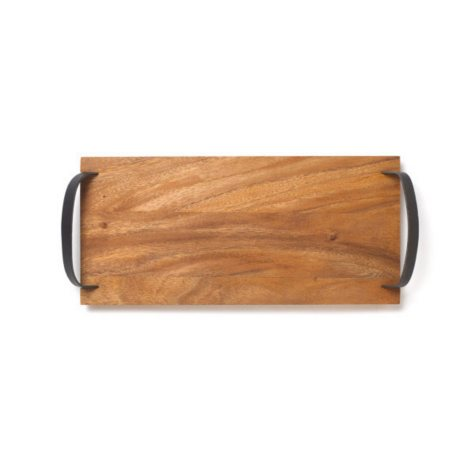 Acacia Serving Board with Leather Handles