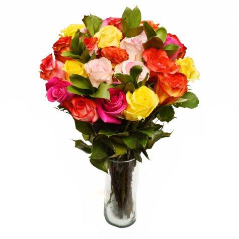 Rainbow Bright Valentine's Day Bouquet, PREORDER (24 stems)