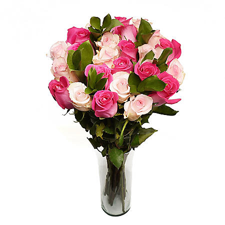 Forever Pink Rose Mother's Day Bouquet (24 stems)