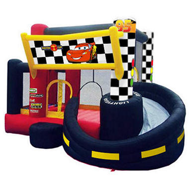 cars inflatable bouncer with slide and ball pit sam 39 s club. Black Bedroom Furniture Sets. Home Design Ideas