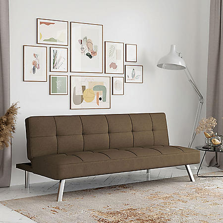Serta Crestview Convertible Sofa, Brown