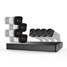 Revo 16-Channel 4K NVR Security System with 3TB HDD, 8x 1080p IP Bullet Cameras and 100' Night Vision