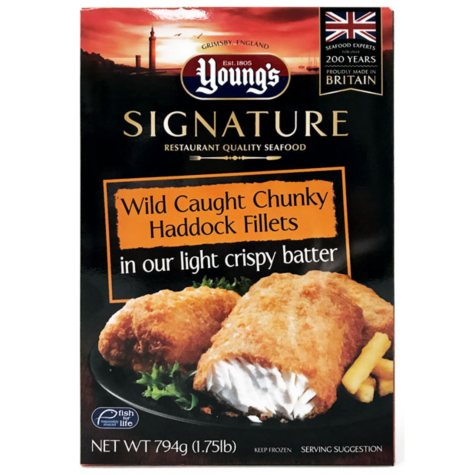 Young's Signature Wild Caught Chunky Haddoc Fillets (1.75 lb.)
