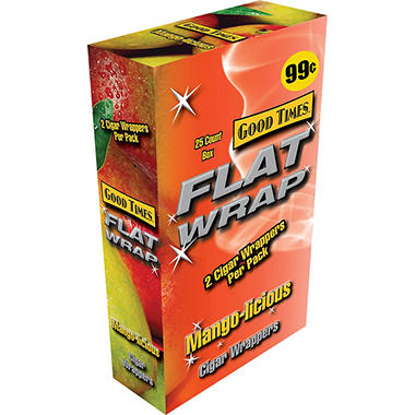 Good Times Flat Wraps, Mango (50 ct.)