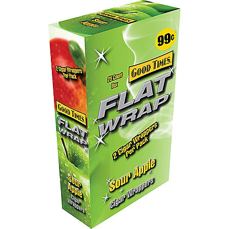 Good Times Flat Wraps Sour Apple - 50 ct.