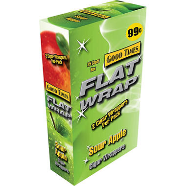 Good Times Flat Wraps Sour Apple - 50 ct.