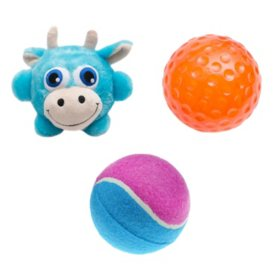 Mugsy's Bouncy Squeaky Dog Toy Ball Set (3 pc.)
