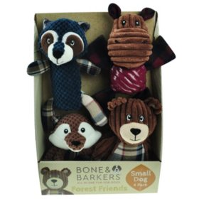 Bone & Barkers Forest Friends Dog Toys (Choose Pack Size)