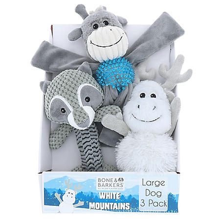 Bone & Barkers White Mountain Dog Toys, 3 pk. for Large Dogs