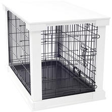 Cage with Crate Cover, White, Small