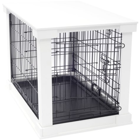 Zoovilla Crate with White Wood Crate Cover (Choose Your Size)