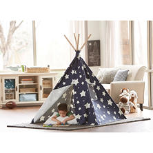 Kids Glow in the Dark Teepee (Blue)