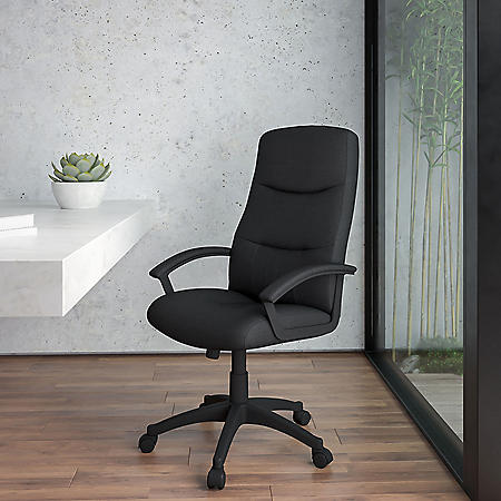 Flash Furniture High-Back Executive Swivel Office Chair, Black