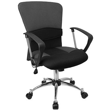 flash furniture mid back mesh office chair gray sam s club