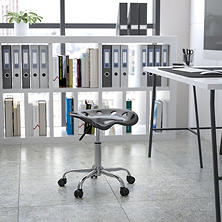 Flash Furniture Tractor Seat Stool, Black