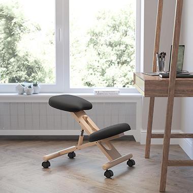 Wooden Ergonomic Kneeling Posture Chair Black Sams Club - Posture chair