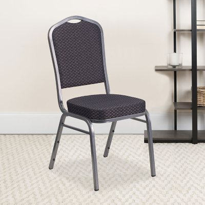 Flash Furniture Fabric Banquet Stack Chair with Silver Frame Black (Select Quantity)  sc 1 st  Samu0027s Club & Stacking Chairs - Samu0027s Club