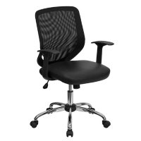 Flash Furniture Mesh Back with Leather Seat Office Chair
