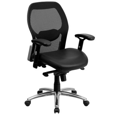 Ergonomic Mesh Office Chair with Black Leather Seat Sams Club