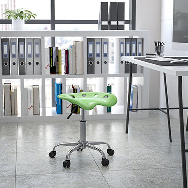 Flash Furniture Tractor Seat Stool - Green