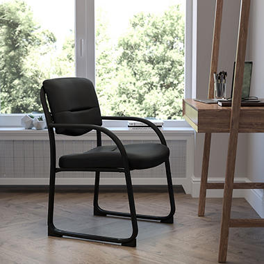 Flash Furniture Executive Guest Chair with Sled Base, Black