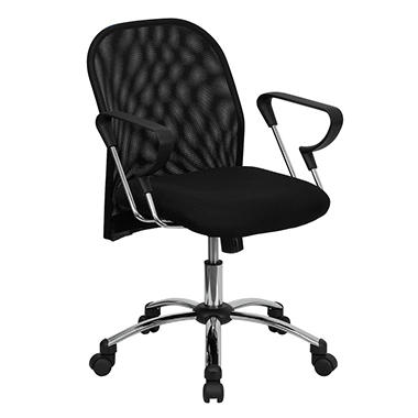 Flash Furniture Mid-Back Black Mesh Office Chair