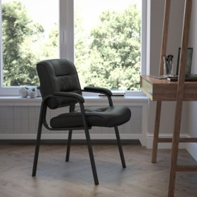 Flash Furniture Leather Reception Chair Various Colors