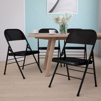 Charmant Hercules Metal Folding Chairs, Black (Select Quantity)