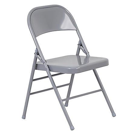Hercules Metal Folding Chairs, Gray