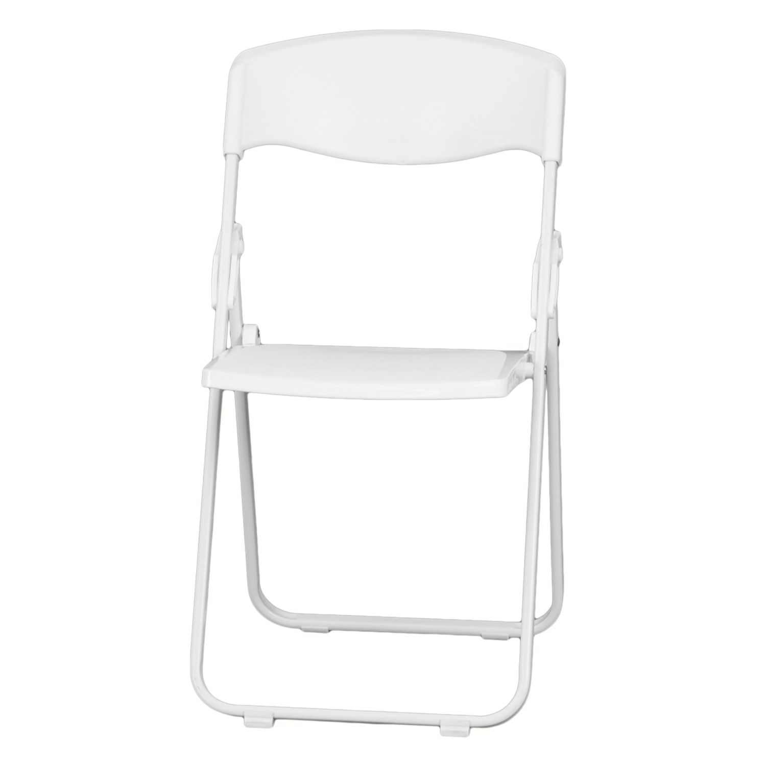 White plastic folding chairs - 360 Spin