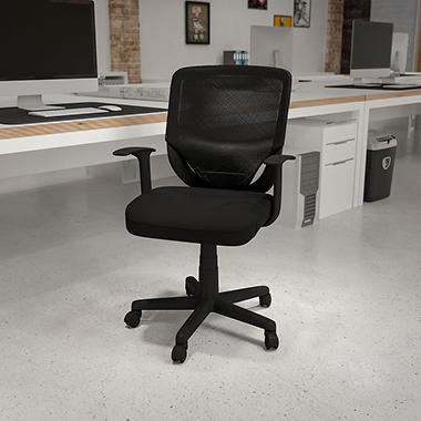 Flash Furniture Mid-Back Mesh Office Chair Black  sc 1 st  Samu0027s Club & Flash Furniture Mid-Back Mesh Office Chair Black - Samu0027s Club