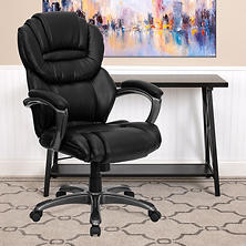 Flash Furniture High-Back Leather Executive Office Chair, Black