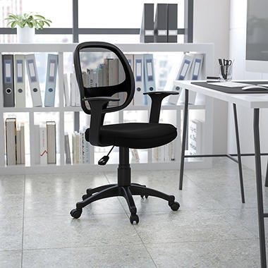 Flash Furniture Mid-Back Mesh Computer Chair, Black