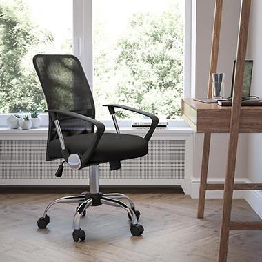 flash furniture mid back mesh computer chair black sam s club