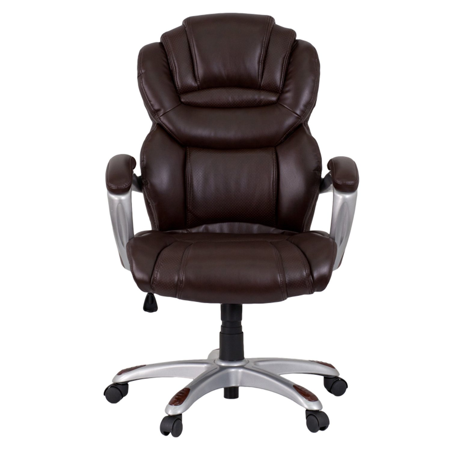 Flash Furniture High Back Leather Executive fice Chair Brown