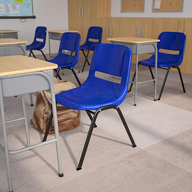 Hercules Ergonomic Shell Stacking Chair Blue