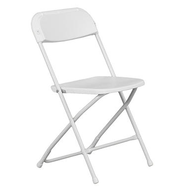 Hercules Premium Folding Chair, White - 20 Pack