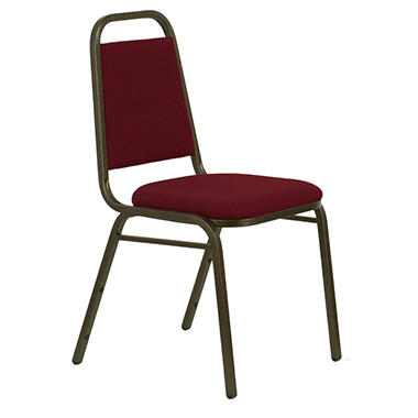 Hercules Fabric Banquet Chair, Burgundy - 40 Pack