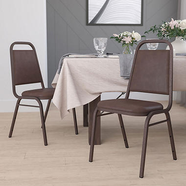 Elegant Flash Furniture Hercules Series Vinyl Banquet Chair Brown
