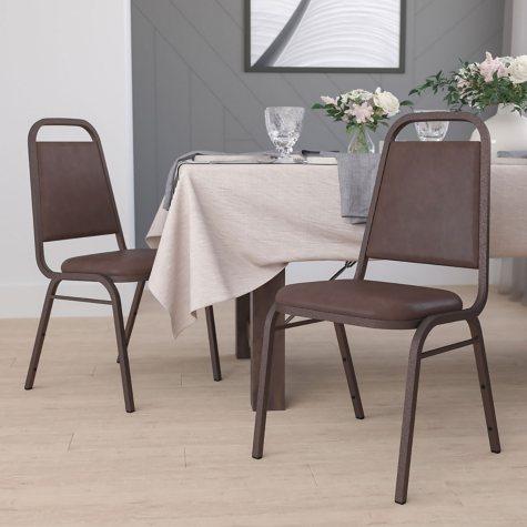 Flash Furniture Hercules Series Vinyl Banquet Chair Brown