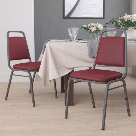 Flash Furniture Hercules Series Vinyl Banquet Chair Burgundy